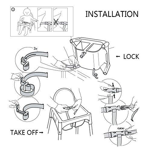 Cinture di sicurezza da bambino Zarpma, 3punti Safetyharness for Baby Kid Safe strap per seggiolone