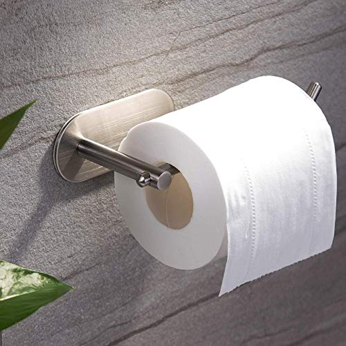 YIGII Adhesive Toilet Paper Holder - MST001 Self Adhesive Toilet Roll Holder for Bathroom Kitchen...