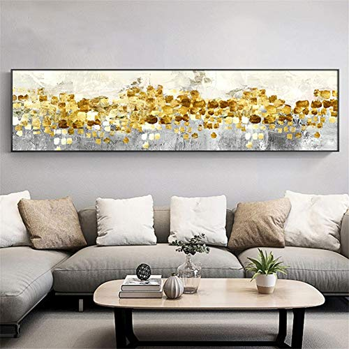 5D Grande Diamond Painting Kit Adulto Lluvia de árbol dorado abstracto 40x120cm Completo Pintura de Diamante Full Drill Crystal Rhinestone Bordado de Punto de Cruz la Salón Corredor pared Decor T187