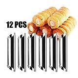 Molde para hornear 12 piezas os Pastel espiral Croissant Pan Molde cuerno acero inoxidable Molde antiadherente Herramientas