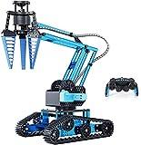 Top Race Brazo robótico de Control Remoto, Kit de construcción de Brazo robótico mecánico de aleación metálica, Robot excavador de vástago Desmontable DIY