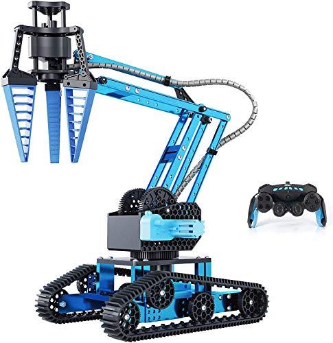 Top Race Remote Control RC Robot Arm, Alloy Metal Mechanical Robotic...