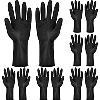 6 Pairs Hair Dye Gloves Hair Color Gloves Reusable Dyeing Gloves Hair Coloring Accessories for Home and Salon Hair Tools