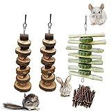 Rat chew Toys, Chew Treats. Apple Sticks Toys Small Animal Chew Toys for Rabbits Chinchilla Hamsters Guinea Pigs Gerbils.