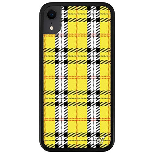 Wildflower Limited Edition Cases Compatible with iPhone XR (Yellow Plaid)
