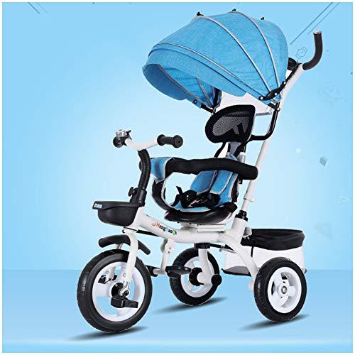 WWSC 4 In 1 Kids Tricycle Fünf Farben Für Kinder Dreirad Fahrrad 1-3-6 Jahre Alt Großen Baby Baby...