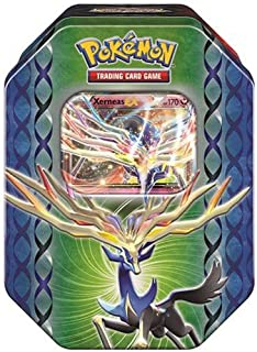 Pokemon TCG: Legends of Kalos Collector's Tin Containing 4 Booster Packs and Featuring A Foil Xerneas-EX