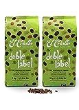 Café 100% Arábica 'Doble Label' - Cafés El Criollo | Café de Comercio Justo y Fairtrade | Tueste Natural | Café para Hostelería (2 KG)
