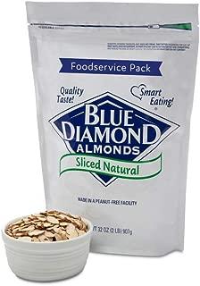 Blue Diamond Almonds Natural Sliced Foodservice Pack, 2 Pound