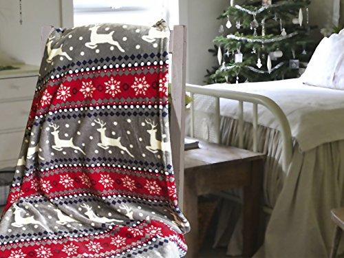 Coperta in pile super morbido, motivo natalizio