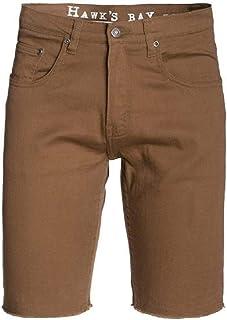 c5d8c33ccb Hawk's Bay Men's Denim Cut Off Shorts Slim Fit Distressed Denim and Colored  Short