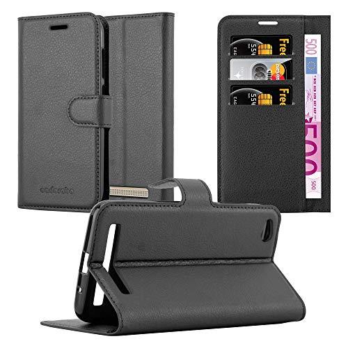 Cadorabo Funda Libro para Xiaomi RedMi 5A en Negro Fantasma - Cubierta Proteccíon con Cierre Magnético, Tarjetero y Función de Suporte - Etui Case Cover Carcasa