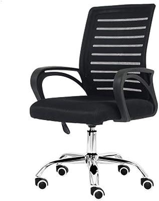 DALIBAI Cadeira de computador com costas baixas para cadeira de escritório de malha respirável Encosto com rolamento rotativo, peso 150 kg cadeira de computador para casa cadeiras de mesa