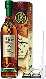 Asbach 15 Jahre Spezialbrand 0,7 Liter  2 Glencairn Gläser und Einwegpipette