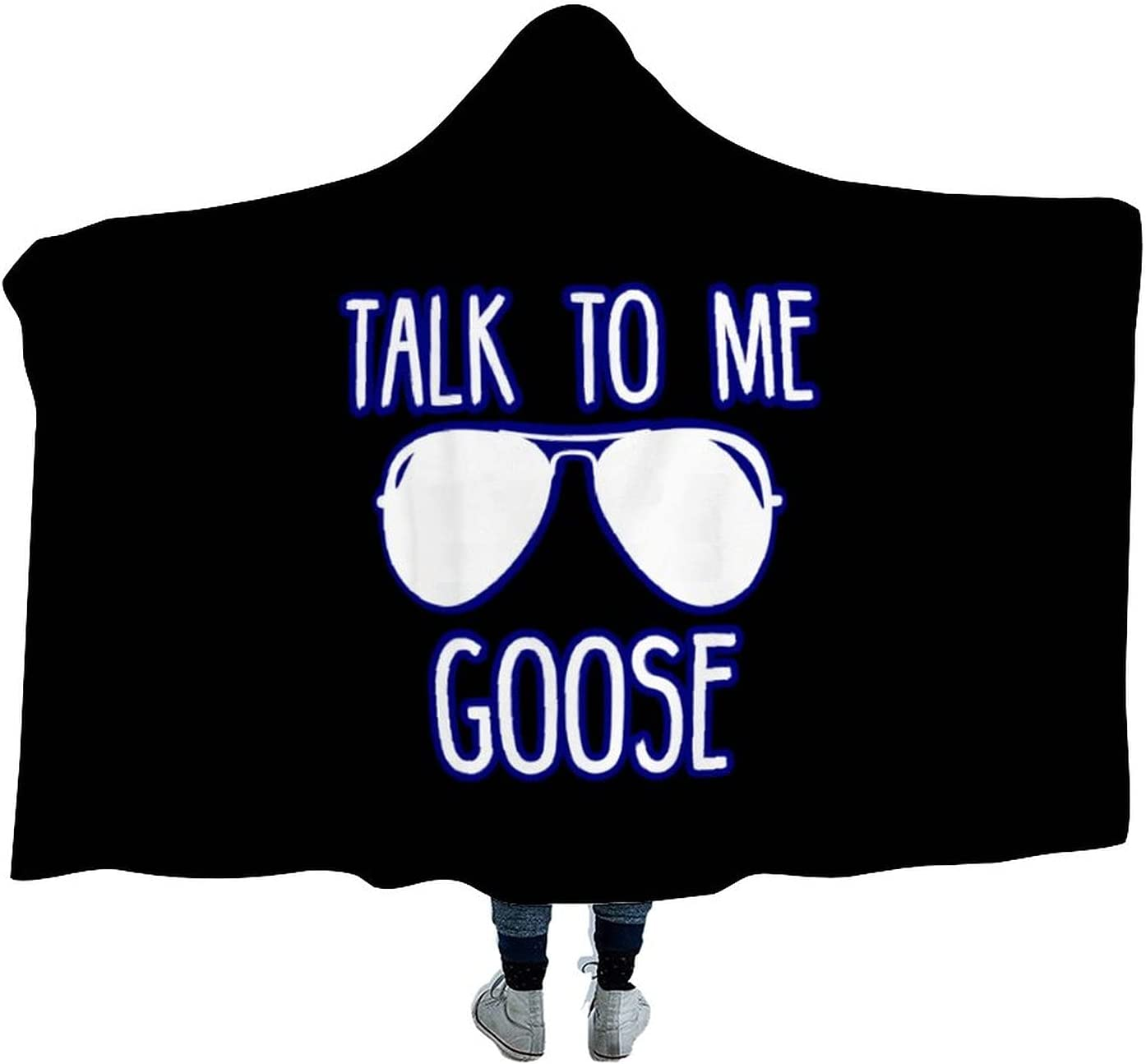 Talk to Me Ranking TOP10 Goose Wearable Hooded Soft Max 89% OFF for Tv Watch Blanket Cloak