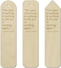 3 x Friendship Quote by Charles Dickens Birch Bookmarks (BK00006966)