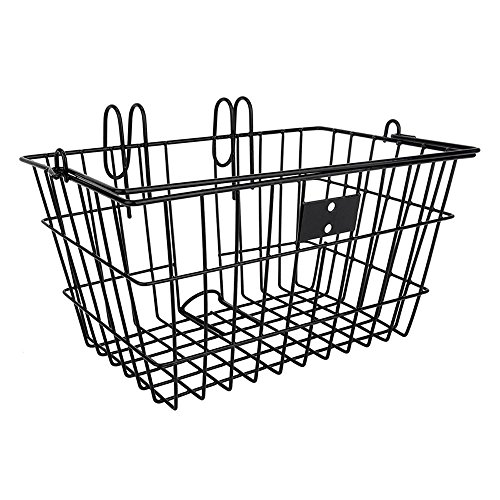 Sunlite Wire Lift-Off Front Basket, Black