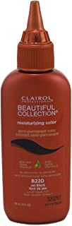Clairol Beautiful Collection #B022D Jet Black 3 Ounce (88ml) (6 Pack)