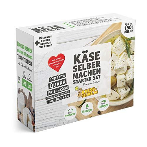 Käse selber Machen Starter Set -Premium Edition- inkl. Rezeptmagazin und Videoanleitungen (für Käse, Quark und Frischkäse)