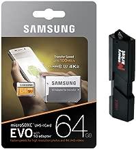 Samsung 64GB MicroSD XC Class 10 UHS-3 Mobile Memory Card for HTC U11 One X10 U Ultra U Play 10 Desire 650 630 10 Pro with USB 3.0 MemoryMarket Dual Slot MicroSD & SD Memory Card Reader