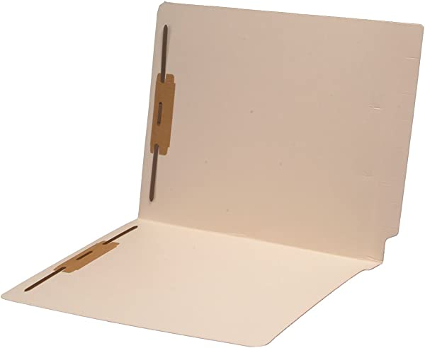 14 Pt Manila Folders Full Cut 2 Ply End Tab Letter Size Fastener Pos 1 3 Carton Of 250
