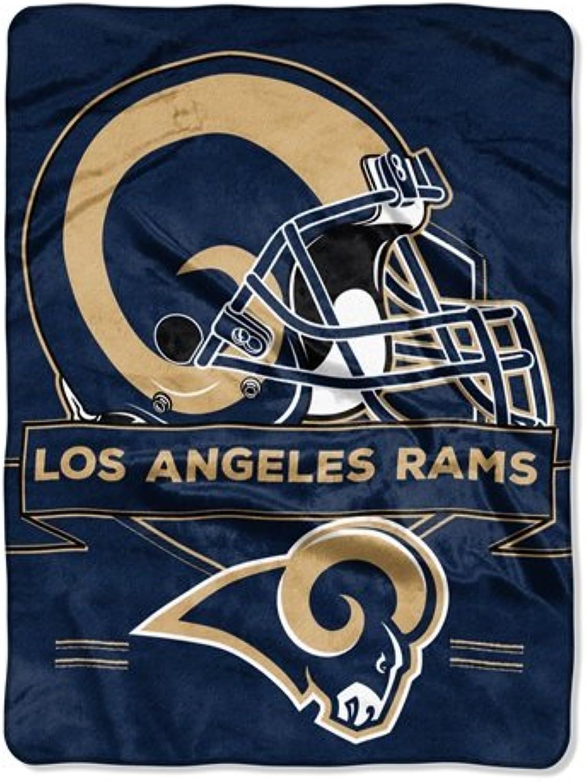 The Northwest Company Los Angeles Rams Blanket 60x80 Raschel Prestige Design