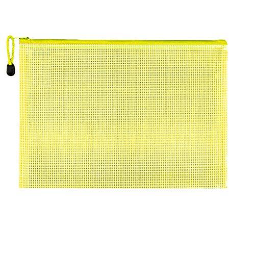 Pocket Mappen A4 Plastic Mappen Plastic Portefeuilles A4 Popper Map Met Plastic Portefeuilles A4 Document Portefeuilles yellow