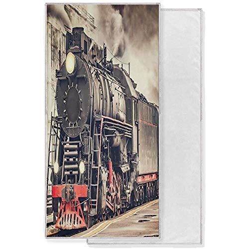EXking Vintage Express Steam Train Face Towel Toalla de