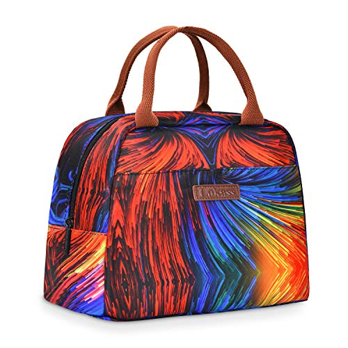LOKASS Lunch Bags for Women, Insulated Lunch Box Thermal Lunch Tote Bag for Women Men, Colorful