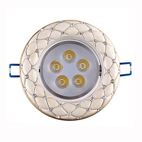 Wddwarmhome Les projecteurs rétro ont mené des lumières de plafond de lumières du couloir 5W Downlights 2pcs ( Couleur : B )