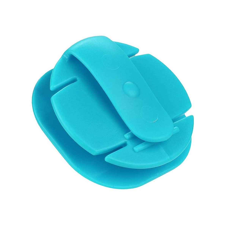 Livoty Mini Earphone Winder Earphone Holder Hard Case Portable Stretch Earbud Storage (Blue)