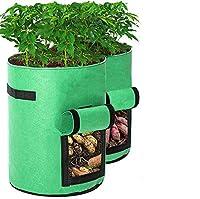 フェルトプランター7ガロン 不織布ポット フェルト プランター 植え袋 ガーデン 園芸 植物育成 野菜栽培 発育促進 家庭菜園 室内栽培用 3種セット…