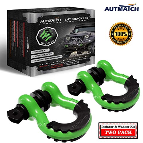Buy Discount AUTMATCH Shackles 3/4 D Ring Shackle (2 Pack) 41,887Ib Break Strength with 7/8 Screw ...