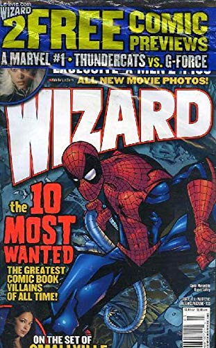 Wizard N°138 , the comics magazine. Rating the rogues - Thundercats / G-Force - Jeph Loeb Q&A - Smallville.