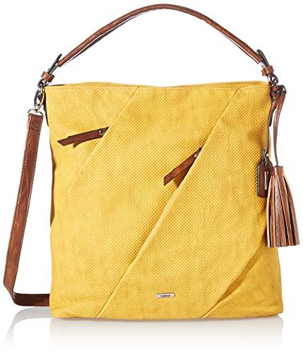 Rieker Damen H1057 Handtasche, Gelb, 410x110x355