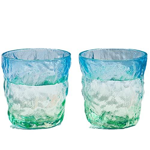 Glacier modello in vetro 2 pezzi set da 10.9oz più spesso adatto per whisky vetro caffè bevanda vetro domestico bevanda mista set