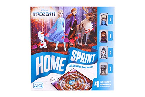 Disney Frozen 2 Home Sprint Board Game for Kids Age 4 Years Old +,