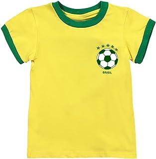 Toddler Soccer T-Shirt World Cup 2018 Neymar Jr Brazil Jersey for Baby Kids