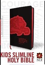 Kids Slimline Bible NLT, TuTone (Red Letter, LeatherLike, Black/Red Lion)