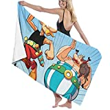 ENZOOIHUI Asterix and Obelix The Bath Towel Serviette de Plage 80X130...
