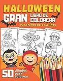 HALLOWEEN GRAN LIBRO DE COLOREAR Para Niños de 4 a 8 Años: 50 divertidos dibujos para colorear con vampiros calabazas esqueletos brujas zombis | Regalos Originales