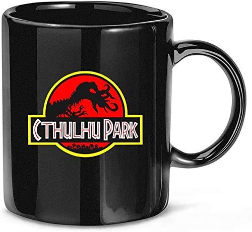 N\A Cthulhu Park Classic Jurassic Park World Lovecrafts Tazas de café de cerámica Tazas de 11 oz