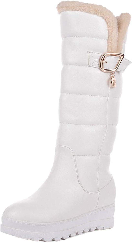 JOJONUNU Women Mid Calf Snow Boots