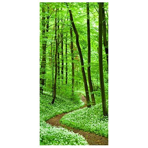 Bilderwelten Raumteiler Romantischer Waldweg 250x120cm inkl. transparenter Halterung