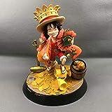 QIYHB One Piece Anime Figure Monkey D.Luffy Chapeau De Paill