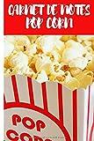 CARNET DE NOTES POP CORN: Journal de bord Pop Corn- Journal...