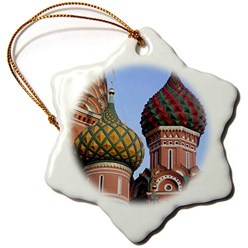 3dRose Russia, Moscow. St Basils Cathedral in Red Square - EU26 KWI0021. - Ornaments (ORN_138746_1)