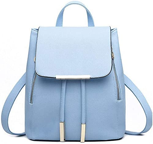 S k zone Girl s Canvas Vogue College Bags Backpacks Today Offer Deal of the day Sky Blue