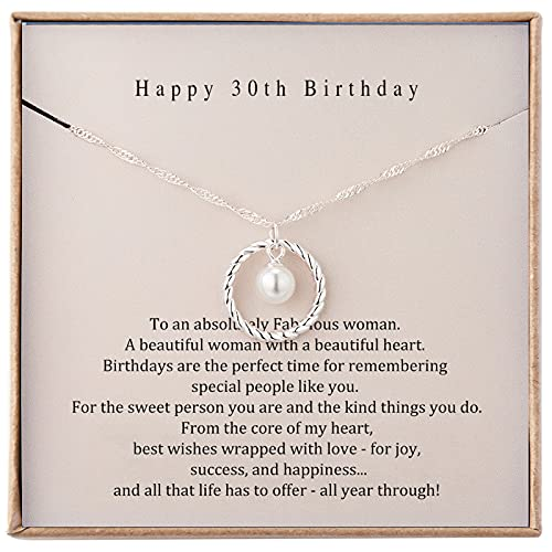30th Birthday Gifts for Women Sterling Silver Necklace for Women Birthday Gifts for Her