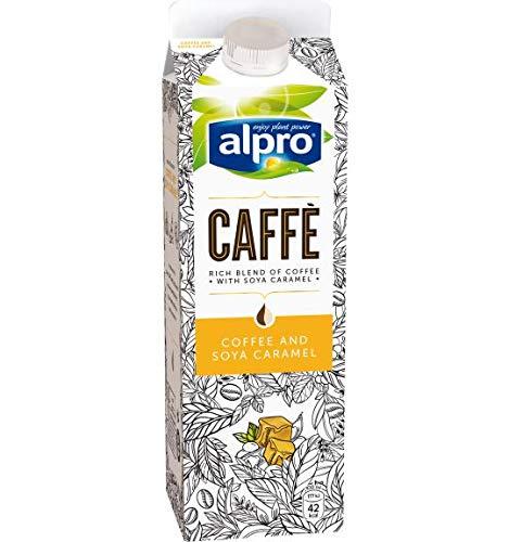 Alpro Caffe Soya Caramel - 8 x 1 l I Kaffee I Soja I Karamell I Ready to Drink I Kaffeegetränk I Laktosefrei I Vegan